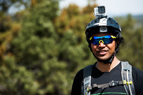 Enduro Helmet Has Gopro Mount Goggle System Built In
