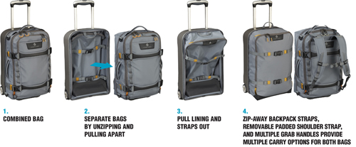 Eagle Creek Suitcase 'Morphs' Into Multiple Bags