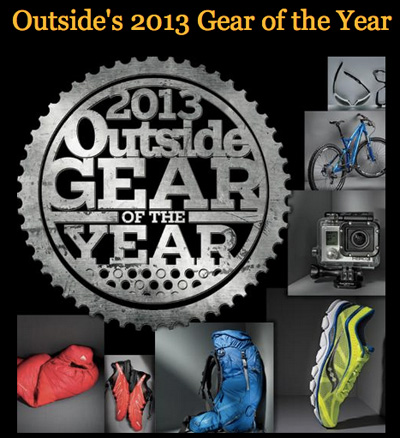 Outside magazine 'Gear of the Year' 2013 (full list
