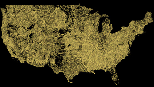 Rivers Of America Revealed In Fine Detail On New Vector Map - Us all rivers map