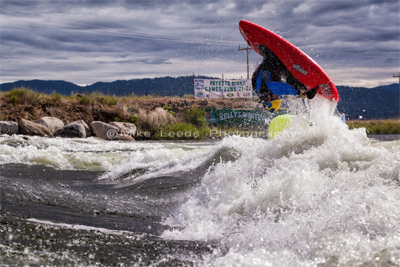whitewater kayak flip