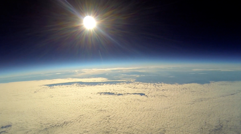 Video Incredible Footage Of Gopro Camera Flying To Space