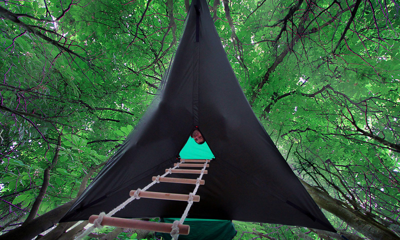 Tensile Tree Tent Hammock & Stingrayu0027 Tent Is A Portable Treehouse