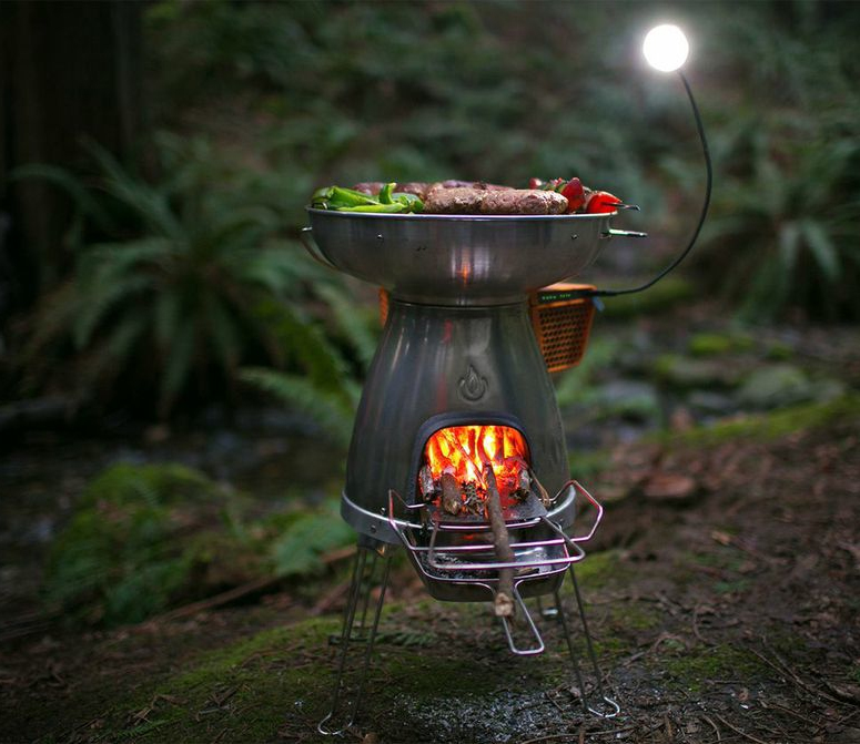 Uber Stove Charges Cooks Lights Your Camp All Off Grid The Biolite BaseCamp Will Cook Food Charge Anything With A USB And Even Provide Light