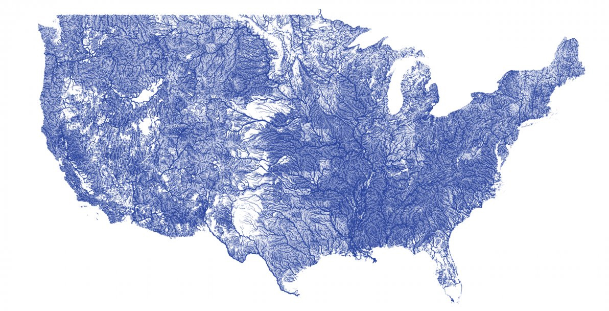 Map Of America Rivers.Rivers Of America Revealed In Fine Detail On New Vector Map Gearjunkie