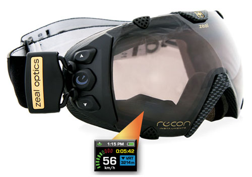 "de359af01c1 an in-goggle LCD ""dashboard"" mounted in the lower right corner of the goggle  frame where all your speed and GPS data is only a glance away"
