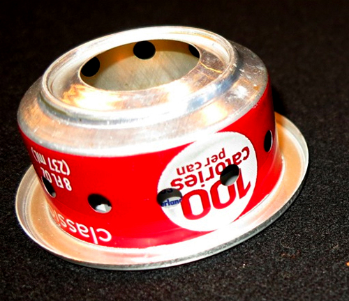 39 coke can 39 stove gives light weight but weak heat for Coke can heater