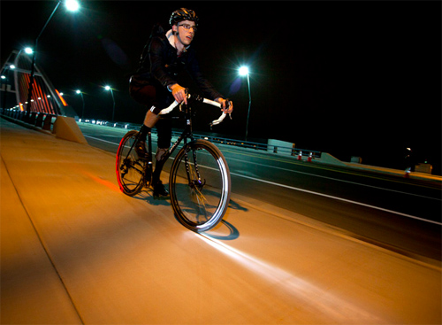 Bike riding with the Revolights