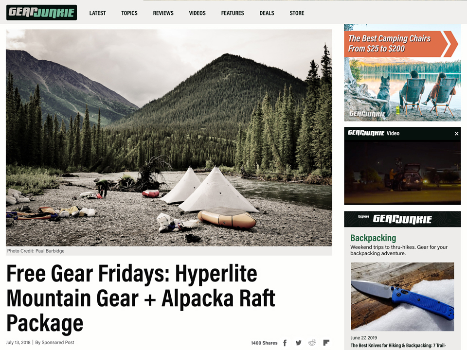 Hyperlite Mountain Gear Free Gear Friday