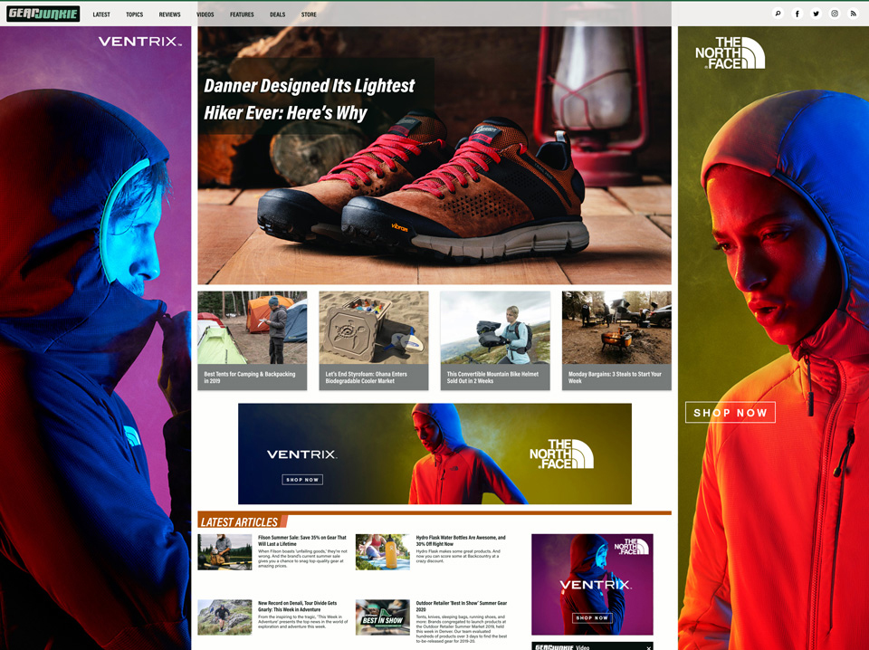 The North Face Homepage Takeover